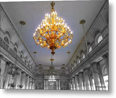 Chandelier  Metal Print by David Kovac