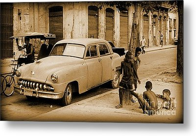 Children Play Outside The Old Way Metal Print