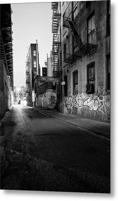 Chinatown New York City - Mechanics Alley Metal Print by Gary Heller