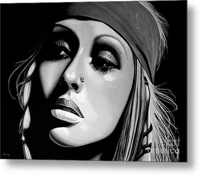 Christina Aguilera Metal Print