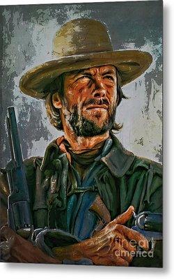 Clint Eastwood Metal Print by Andrzej Szczerski