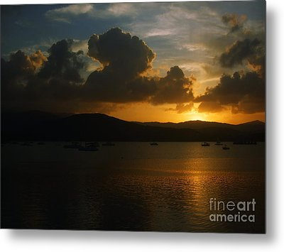 Metal Print featuring the photograph  Cloudy Sunset by Michelle Meenawong