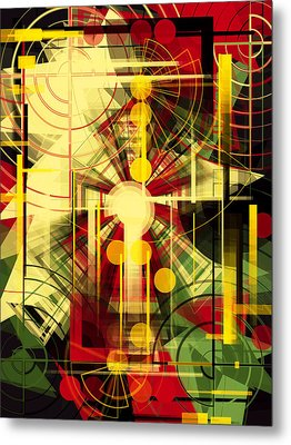 Colorful Construction 37 Metal Print