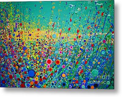 Colorful Flowerscape Metal Print by Maja Sokolowska