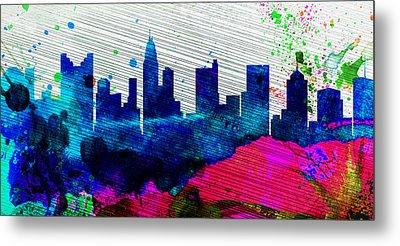 Columbus City Skyline Metal Print
