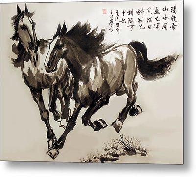 Companionship Metal Print by Yufeng Wang