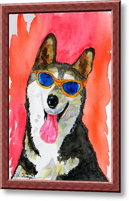 Cool Husky Metal Print