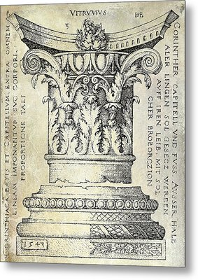 Corinthian Column Metal Print by Jon Neidert