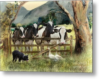 Country Characters Metal Print by Trudi Simmonds