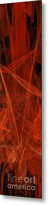 Dancing Flames 1 V - Panorama - Abstract - Fractal Art Metal Print by Andee Design