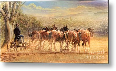 Metal Print featuring the digital art  Days In The Dust by Trudi Simmonds