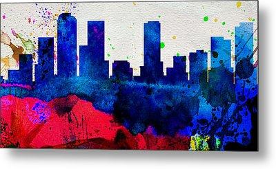Denver City Skyline Metal Print