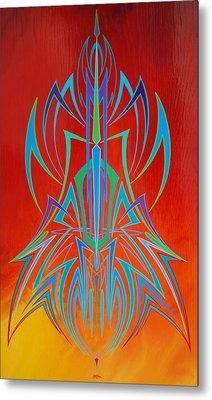Desert Fire Storm Metal Print