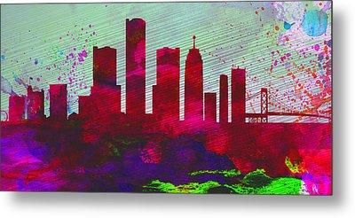 Detroit City Skyline Metal Print