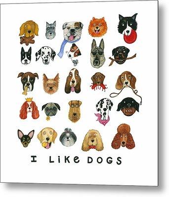 Dogs Twenty Five Breeds Metal Print by Barbara Esposito