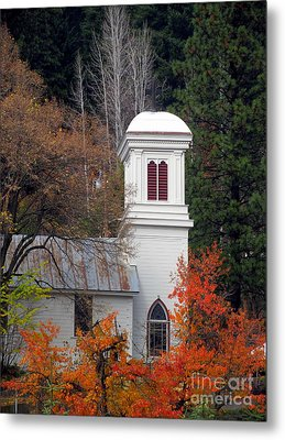Downieville Church Metal Print