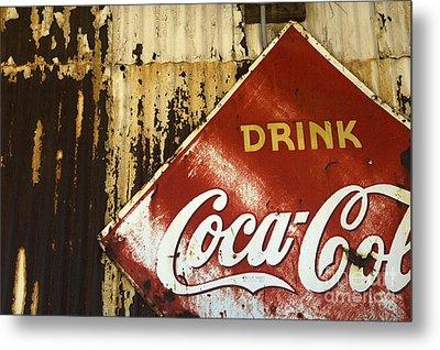 Drink Coca Cola  Memorbelia Metal Print by Bob Christopher