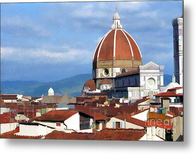 Metal Print featuring the photograph  Duomo Of Florence # 3 by Allen Beatty