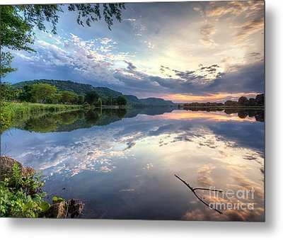 Metal Print featuring the photograph  East Lake Sunset by Kari Yearous