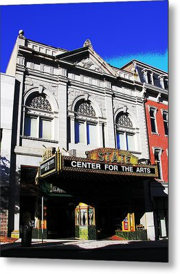 Easton Pa State Theater Center For The Arts Metal Print by Jacqueline M Lewis