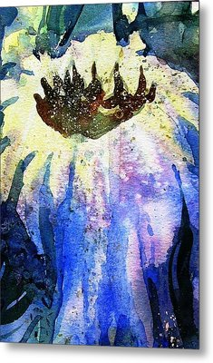 End Of Summer Sunflower Glow Metal Print by Trudi Doyle
