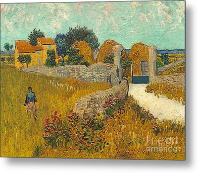 Farmhouse In Provence Metal Print by Vincent van Gogh