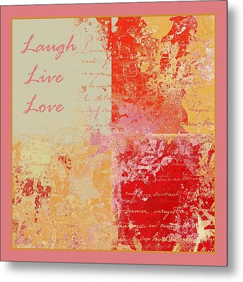 Feuilleton De Nature - Laugh Live Love - 01efr01 Metal Print by Variance Collections