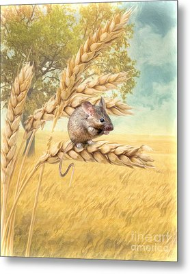 Metal Print featuring the digital art  Field Mouse by Trudi Simmonds