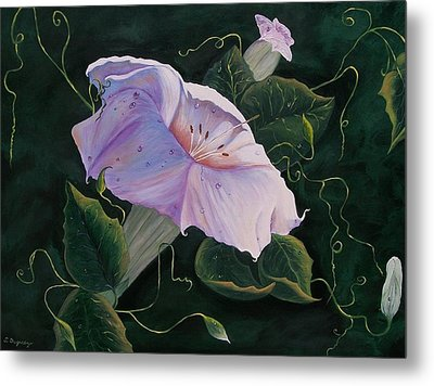 First  Trumpet Flower  Of Summer Metal Print