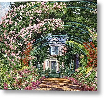 Flowering Arbor Giverny Metal Print by David Lloyd Glover