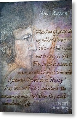 Metal Print featuring the painting '' For You John '' by Delona Seserman