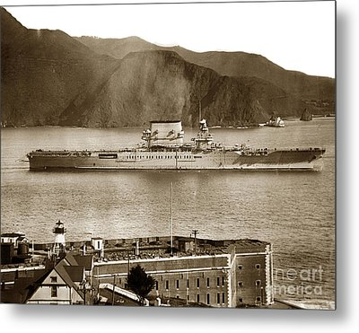 U.s.s. Lexington Cv-2 Fort Point Golden Gate San Francisco Bay California 1928 Metal Print