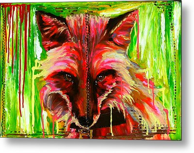 Foxy Lady Hermaique Metal Print by Bazevian