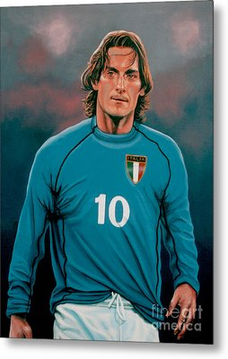 Francesco Totti 2 Metal Print by Paul Meijering
