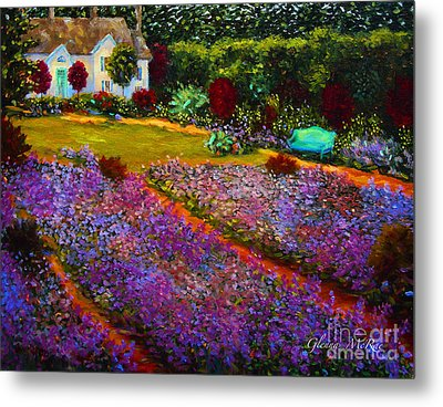 French Palette Of Purple Irises Metal Print by Glenna McRae