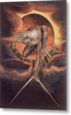 Frontispiece From 'europe. A Prophecy' Metal Print by William Blake
