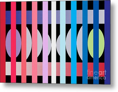 Fun Geometric  Metal Print