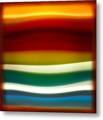 Fury Sea 3 Metal Print by Amy Vangsgard