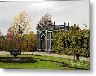 Metal Print featuring the photograph  Garden Gate Schonbrunn Palace Vienna Austria by Imran Ahmed
