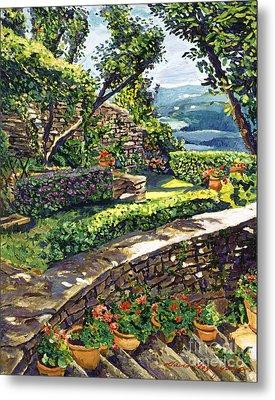 Garden Stairway Metal Print by David Lloyd Glover