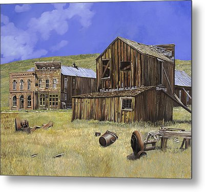 Ghost Town Of Bodie-california Metal Print by Guido Borelli