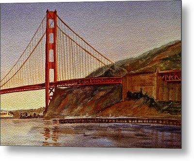 Golden Gate Bridge San Francisco California Metal Print by Irina Sztukowski