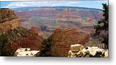 Grand Canyon Panoramic Metal Print by The Kepharts
