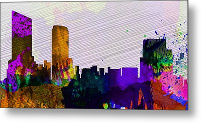 Grand Rapids City Skyline Metal Print by Naxart Studio