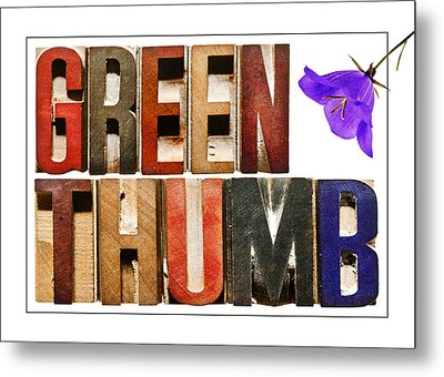 Green Thumb Metal Print by Donald  Erickson