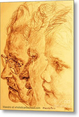 Have Your 3 Generations Drawn Or Painted Metal Print by PainterArtistFINs Husband MAESTRO