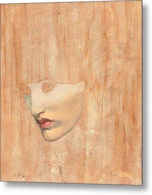 Head Of Proserpine Metal Print by Dante Charles Gabriel Rossetti