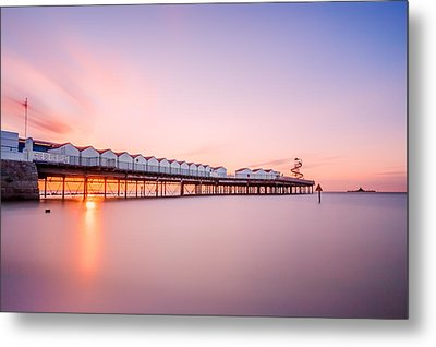 Herne Bay Pier At Sunset Metal Print by Ian Hufton