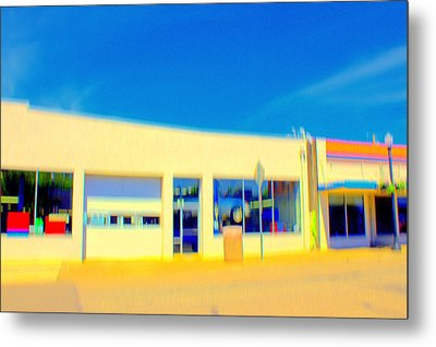 Metal Print featuring the mixed media   Hopper Garage by Terence Morrissey