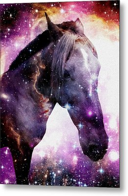 Horse In The Small Magellanic Cloud Metal Print